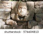 the mayan ruins of copan on... | Shutterstock . vector #576604813