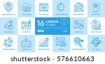 vector collection of line icons ... | Shutterstock .eps vector #576610663