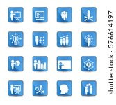 business training icon set | Shutterstock .eps vector #576614197