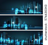 night city background  with... | Shutterstock .eps vector #576630343