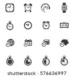 time vector icons for user... | Shutterstock .eps vector #576636997