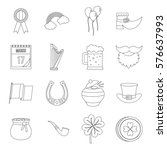 saint patrick icons set.... | Shutterstock . vector #576637993