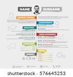 vector minimalist cv   resume... | Shutterstock .eps vector #576645253