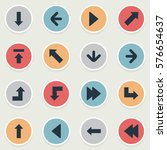 set of 16 simple cursor icons.... | Shutterstock .eps vector #576654637