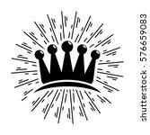 vintage crown with sunburst   Shutterstock .eps vector #576659083