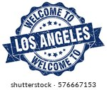 los angeles. welcome to los... | Shutterstock .eps vector #576667153