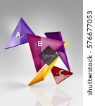 vector 3d triangle abstract... | Shutterstock .eps vector #576677053