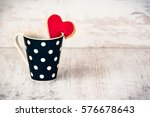 Black Polka Dotted Coffee Cup...