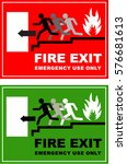 emergency exit  door  exit ... | Shutterstock .eps vector #576681613