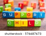 child support concept on... | Shutterstock . vector #576687673
