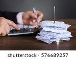 close up of a businessman... | Shutterstock . vector #576689257