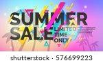 best summer sale banner.... | Shutterstock .eps vector #576699223