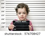 little child posing with a... | Shutterstock . vector #576708427