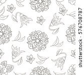 seamless pattern with spring...   Shutterstock .eps vector #576708787