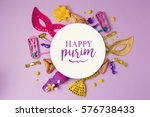 Purim Holiday Concept With...