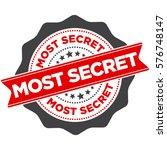 most secret stamp vector | Shutterstock .eps vector #576748147