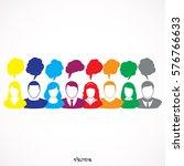 people chatting. vector... | Shutterstock .eps vector #576766633