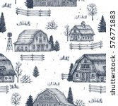 farm country seamless pattern.... | Shutterstock .eps vector #576771883
