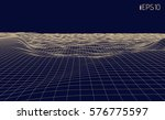 vector 3d linear abstract...   Shutterstock .eps vector #576775597