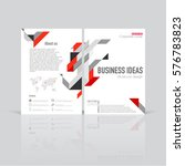 set of business templates for... | Shutterstock .eps vector #576783823