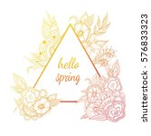 hello spring colorful... | Shutterstock .eps vector #576833323