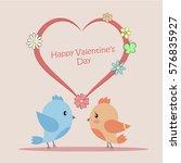 vector illustration of love... | Shutterstock .eps vector #576835927