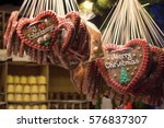 Gingerbread Hearts In Christma...