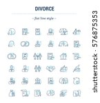 vector set of icons in linear... | Shutterstock .eps vector #576875353