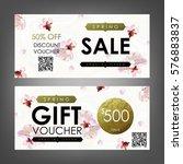 gift certificate  voucher ... | Shutterstock .eps vector #576883837