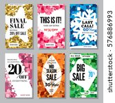 set of mid season mobile sale... | Shutterstock .eps vector #576886993