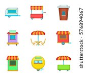 cafe on wheels icons set.... | Shutterstock . vector #576894067