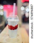 tasty wholesome milk dessert.... | Shutterstock . vector #576896887