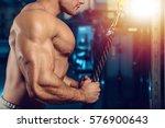 fitness strength training... | Shutterstock . vector #576900643