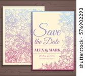 wedding invitation card suite... | Shutterstock .eps vector #576902293