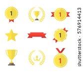 set of gold award icons. | Shutterstock .eps vector #576914413
