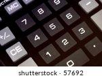 calculator numbers | Shutterstock . vector #57692
