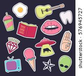 fashion patch badges. set of... | Shutterstock .eps vector #576945727