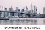 closeup shot of brooklyn bridge ... | Shutterstock . vector #576948427