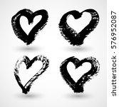grunge hearts | Shutterstock .eps vector #576952087