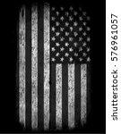 american grunge flag. an... | Shutterstock . vector #576961057