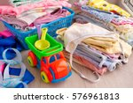 clothing for children and toys...   Shutterstock . vector #576961813