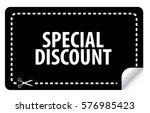 special discount coupon vector | Shutterstock .eps vector #576985423