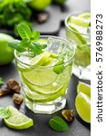 summer mint lime refreshing... | Shutterstock . vector #576988273