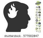 brain fire pictograph with... | Shutterstock .eps vector #577002847