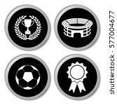 football icons   vector... | Shutterstock .eps vector #577004677