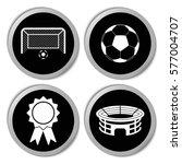 football icons   vector... | Shutterstock .eps vector #577004707