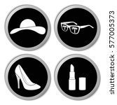 woman's accessories icons  ... | Shutterstock .eps vector #577005373