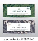 gift voucher template for spa ... | Shutterstock .eps vector #577005763