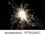 glowing sparks in the dark | Shutterstock . vector #577012417