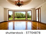 Empty big living room - stock photo
